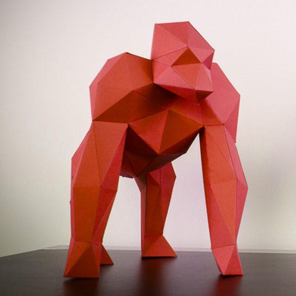 Papierstandobjekt Papertrophy Gorilla