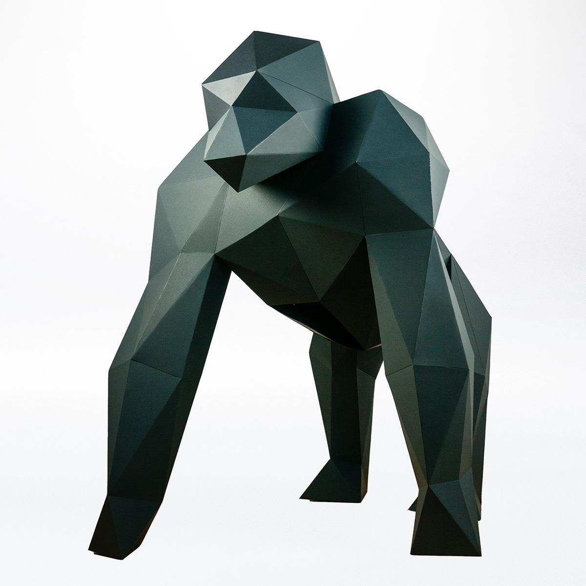 Papertrophy Gorilla XXL Papierstandobjekt