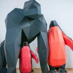 Papierstandobjekt - XXL Gorilla