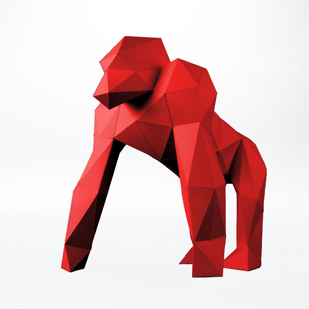 Papierstandobjekt - Gorilla