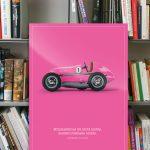 Acryldruck ludopfeil - einzigartiger Acrylprint pink