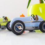 Schuco Modellauto Retro Mercedes Silberpfeil blau grün