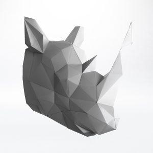 Papierwandobjekt Papertrophy Rhino