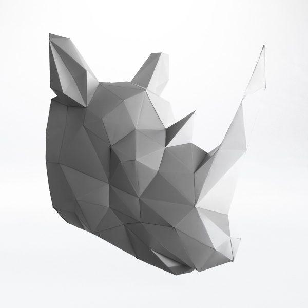 Papertrophy Rhinozeros Wandtrophäe Tierkopf
