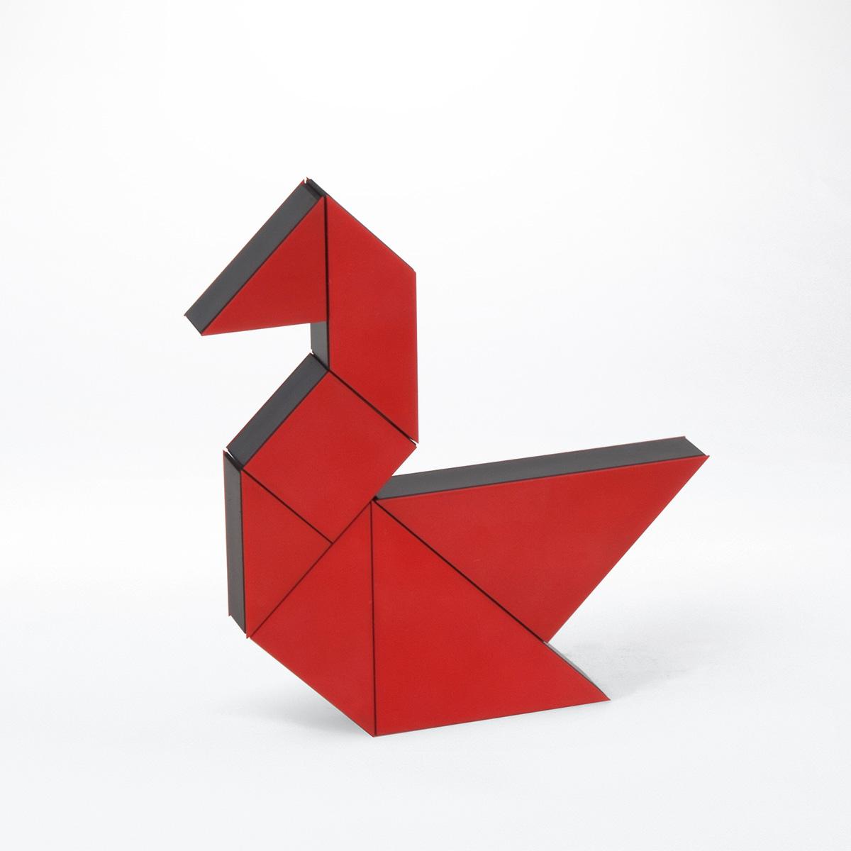 Geduldspiel Tangram 3D rot