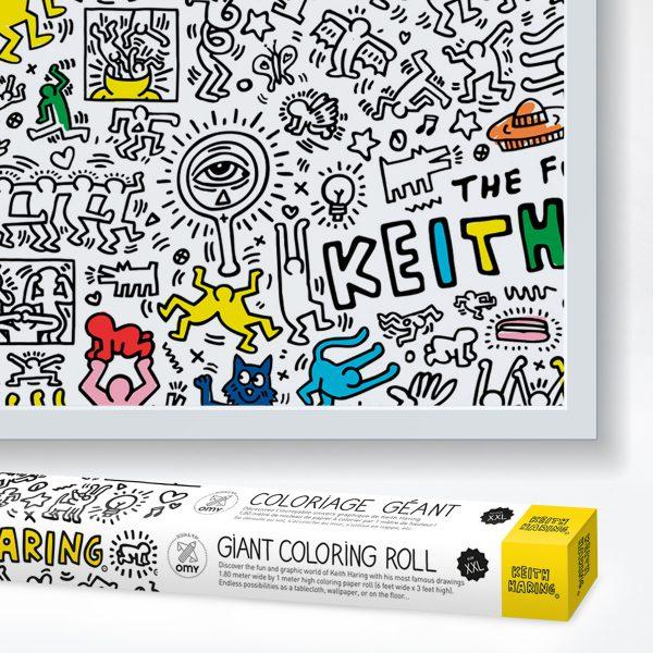 Ausmalposter Keith Haring - auch für Erwachsene